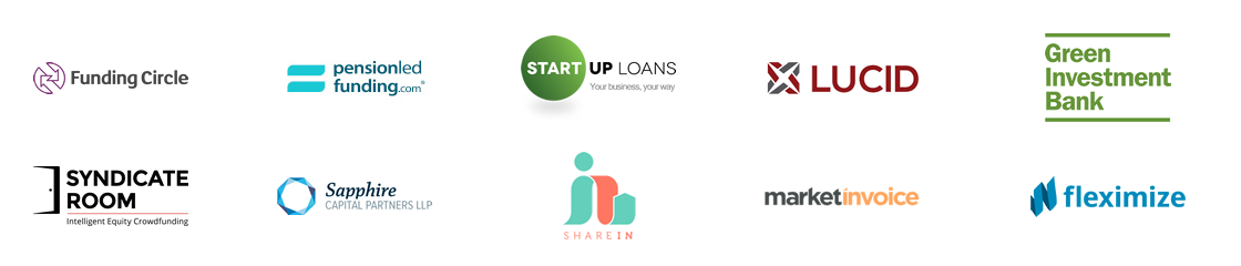 Lending partners include: Foresight International, Funding Circle, Green Investment Bank, Lucid, MarketInvoice, Pension Led Funding, Sapphire Capital, ShareIn, Startup Loan Company, Syndicate Room.