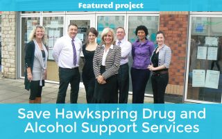 Please donate to save Hawkspring Drug and Alcohol Support Services
