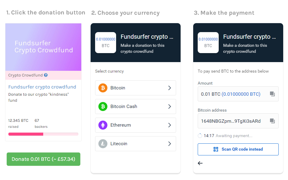Coinbase Commerce crowdfunding